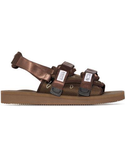 Sandały peep toe - brązowe Suicoke