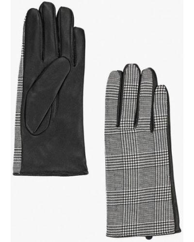 Серые кожаные перчатки Befree