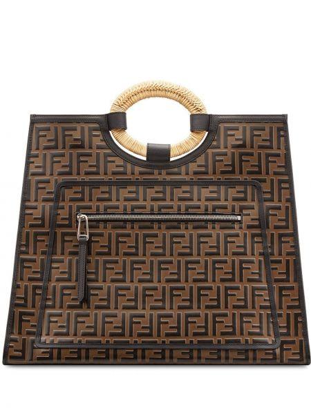 Skórzana torebka torba na torbę na zakupy Fendi