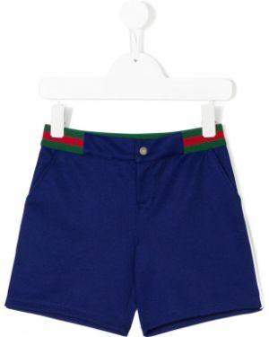 Sport szorty włoski z paskami Gucci Kids