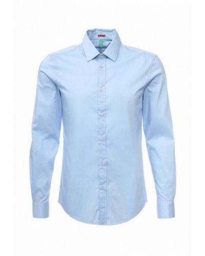 Голубая рубашка с длинным рукавом United Colors Of Benetton