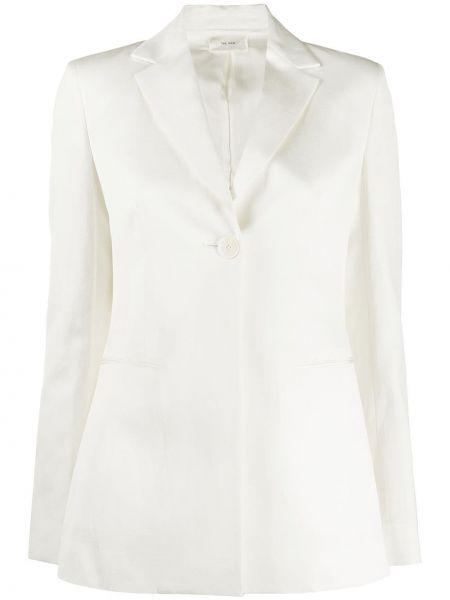 Шелковый однобортный пиджак с карманами The Row