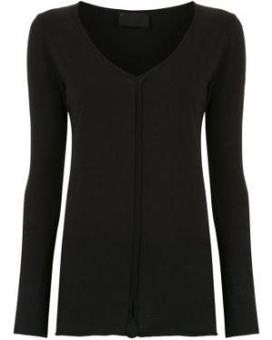 Блузка с длинным рукавом черная на пуговицах Andrea Bogosian