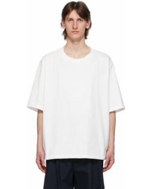 Хлопковая с рукавами белая рубашка с воротником Camiel Fortgens