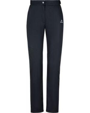 Черные зауженные теплые брюки для бега Nordway