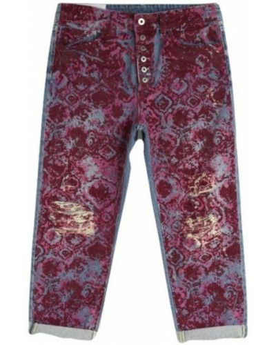 Czerwone mom jeans Dondup