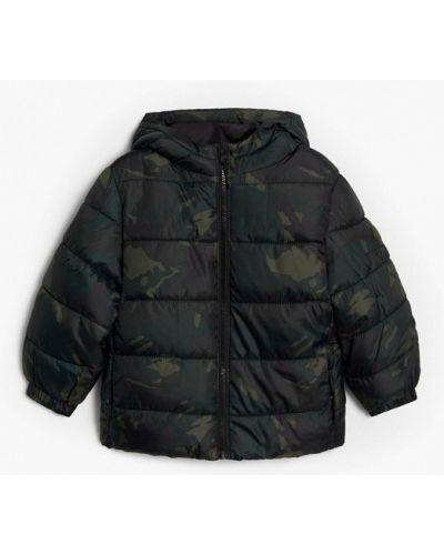 Теплая черная куртка Mango Kids