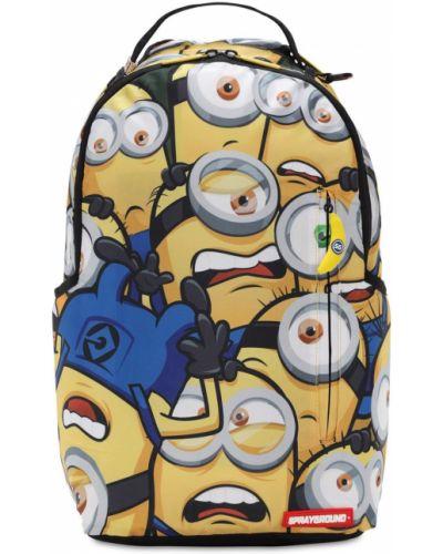 Żółty plecak na paskach z kieszeniami z płótna Sprayground