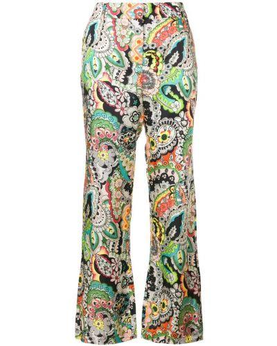 Укороченные брюки в цветочный принт цветные Paul & Joe
