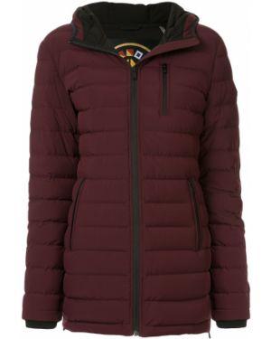 Пуховая красная длинное пальто с капюшоном Moose Knuckles