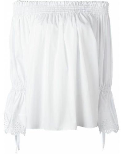 Блузка с открытыми плечами прямая с рукавом-колоколом Alexander Mcqueen