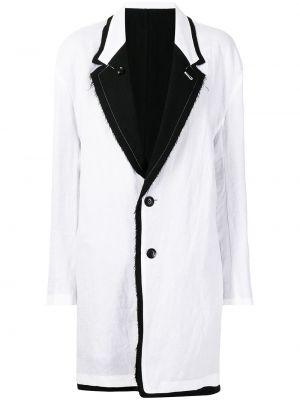 Biały płaszcz wełniany Ys