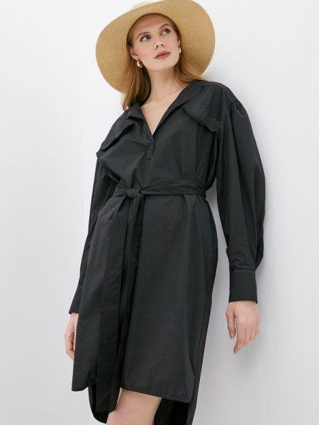 Черное повседневное платье Nude
