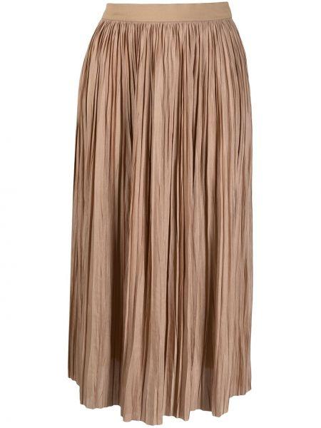 С завышенной талией плиссированная юбка миди с поясом Roberto Collina