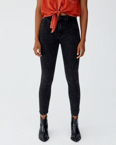 Серые прямые джинсы Pull&bear