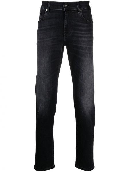 Prosto bawełna niebieski klasyczny jeansy z kieszeniami 7 For All Mankind