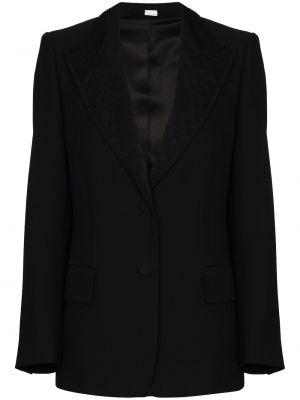 Czarna marynarka bawełniana zapinane na guziki Gucci