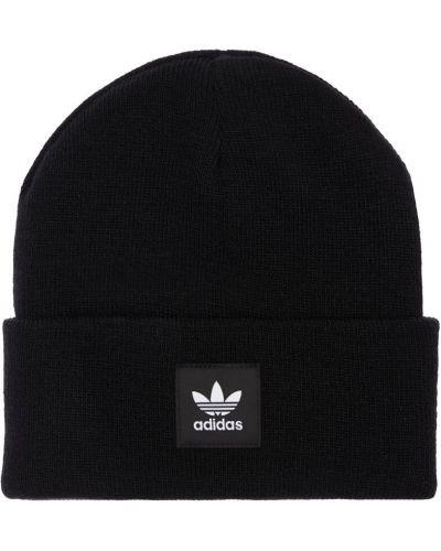 Шапка бини с манжетами - черная Adidas Originals