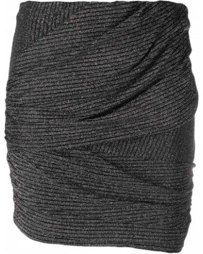 Черная с завышенной талией юбка карандаш с оборками Iro