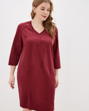 Платье бордовый прямое Gorda Bella