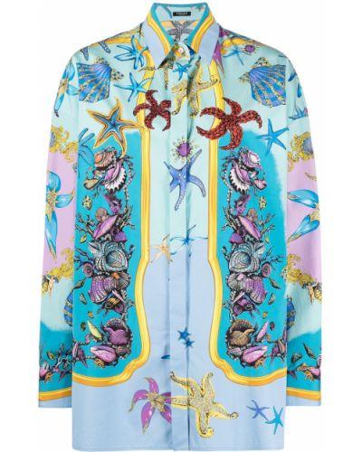 Klasyczna koszula, niebieski Versace