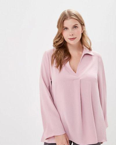 Блузка с длинным рукавом розовая авантюра Plus Size Fashion