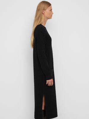 Платье миди в рубчик - черное Marc O'polo Denim