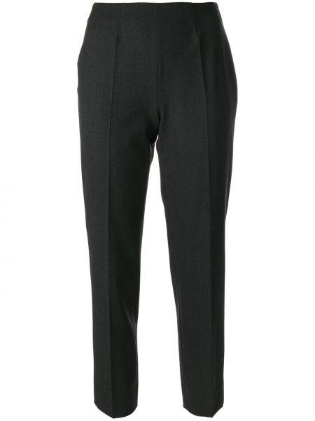 Нейлоновые серые брюки эластичные Piazza Sempione