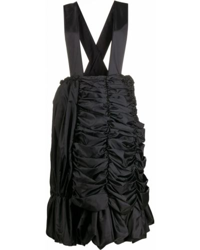 Черные шорты с карманами с оборками Comme Des Garçons