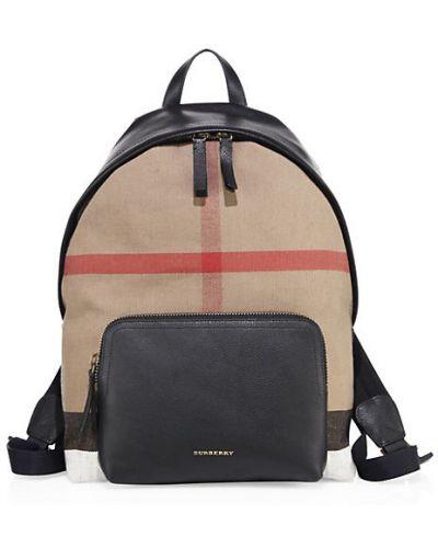 С ремешком черный рюкзак из натуральной кожи Burberry