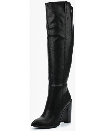 Ботфорты на каблуке кожаные Inario