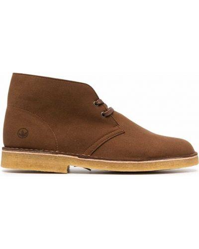 Коричневые ботинки на шнуровке Clarks Originals