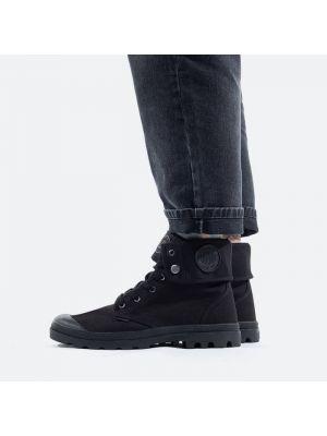 Мешковатые текстильные черные ботинки Palladium