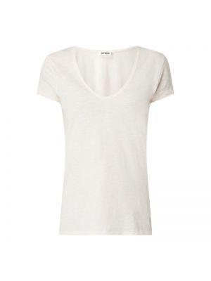 Różowy t-shirt bawełniany Drykorn