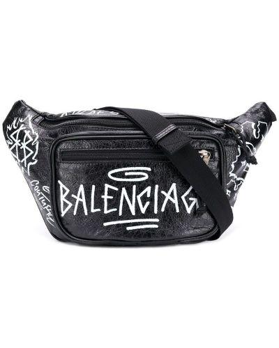Поясная сумка на молнии черная Balenciaga