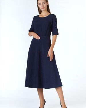 Платье с поясом в полоску на молнии Zip-art