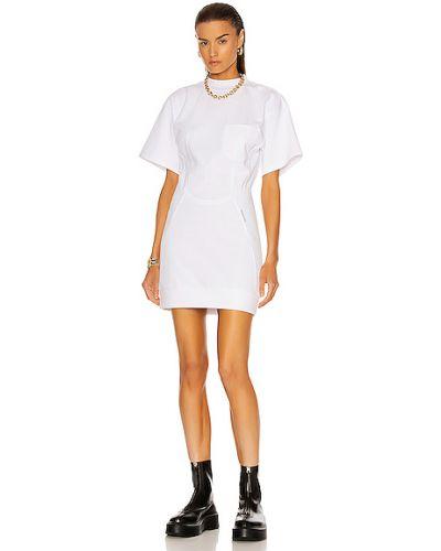 Повседневное белое платье мини с короткими рукавами T By Alexander Wang