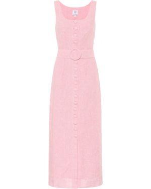 Розовое льняное платье макси Gül Hürgel