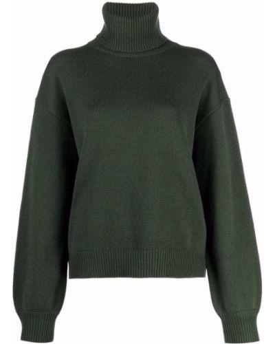 Zielony z kaszmiru sweter Tibi