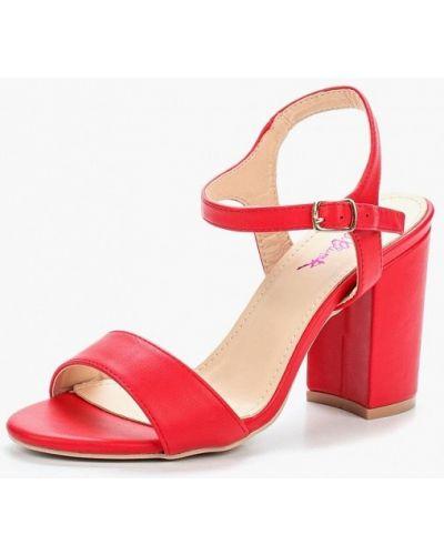 Красные босоножки на каблуке Vera Blum