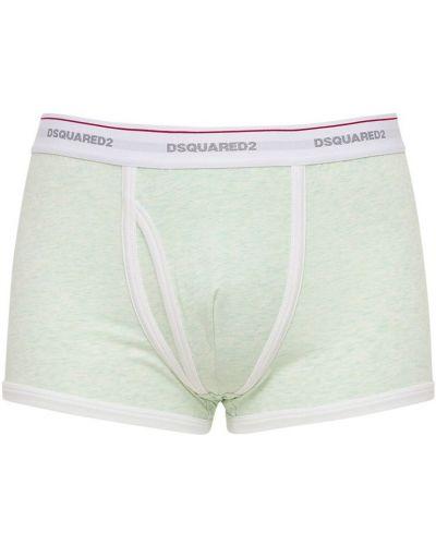 Zielone majtki bawełniane Dsquared2 Underwear