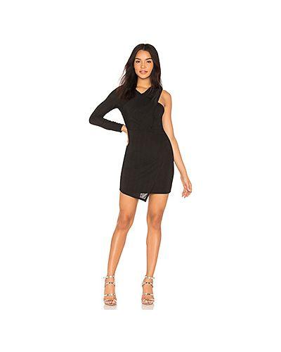 Платье с драпировкой черное Bcbgeneration