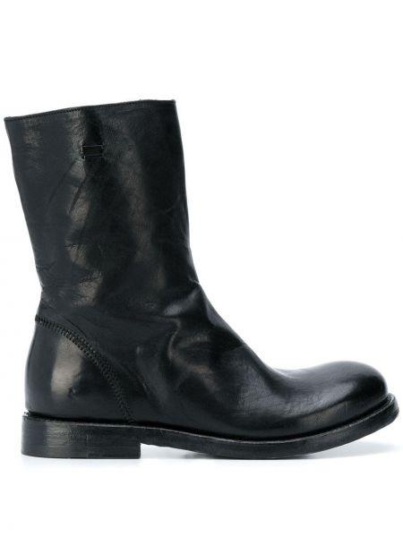 Черные ботинки на каблуке круглые на молнии The Last Conspiracy