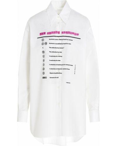 Biała koszula - biała Mm6 Maison Margiela