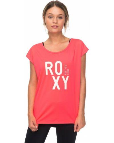 Розовая футболка Roxy