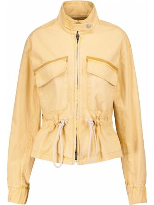 Хлопковая ватная желтая куртка Veronica Beard