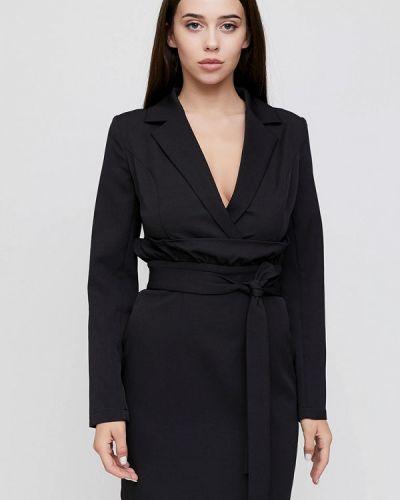 Прямое черное платье Cardo