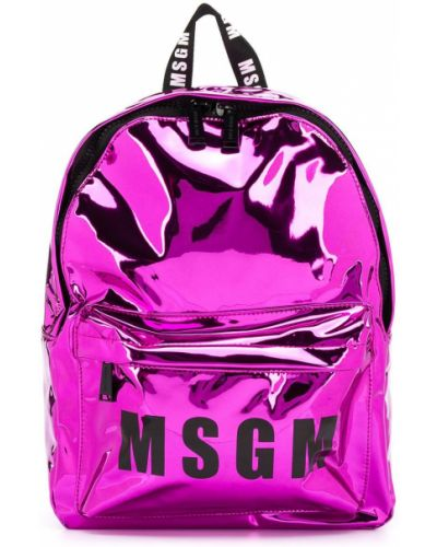 С ремешком малиновый рюкзак на бретелях Msgm Kids