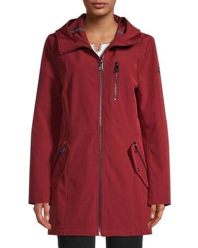 Длинная куртка с капюшоном софтшелл с длинными рукавами Calvin Klein