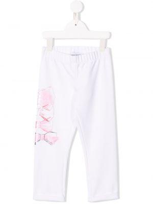 Białe spodnie bawełniane Simonetta